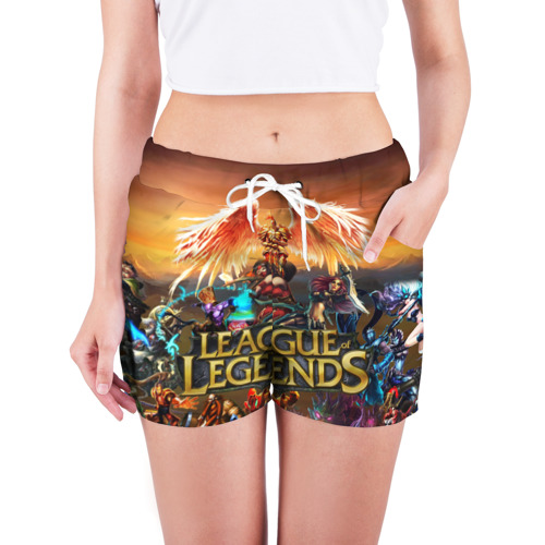 Женские шорты 3D  Фото 03, Лига Легенд