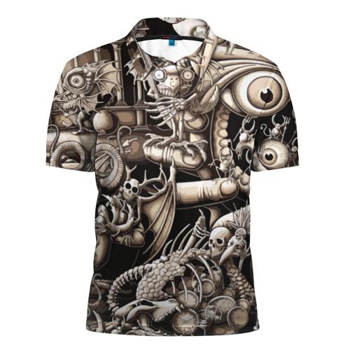 Мужская рубашка поло 3D Сюреализм