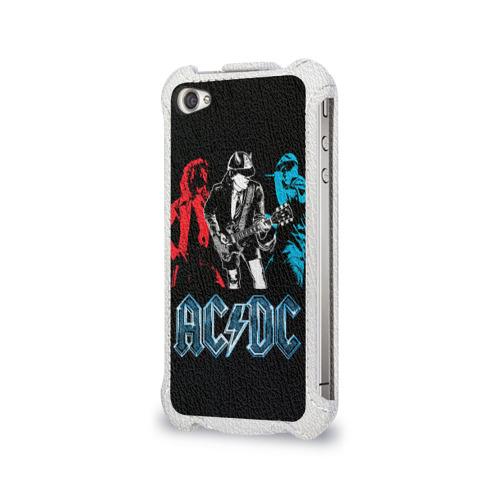 Чехол для Apple iPhone 4/4S flip  Фото 03, AC/DC 8