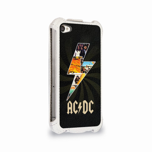 Чехол для Apple iPhone 4/4S flip  Фото 02, AC/DC 7