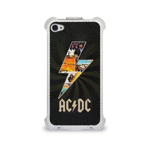 Чехол для Apple iPhone 4/4S flip  Фото 01, AC/DC 7