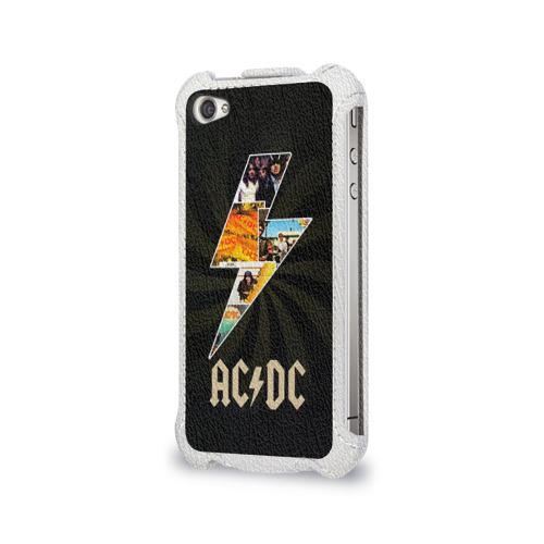 Чехол для Apple iPhone 4/4S flip  Фото 03, AC/DC 7