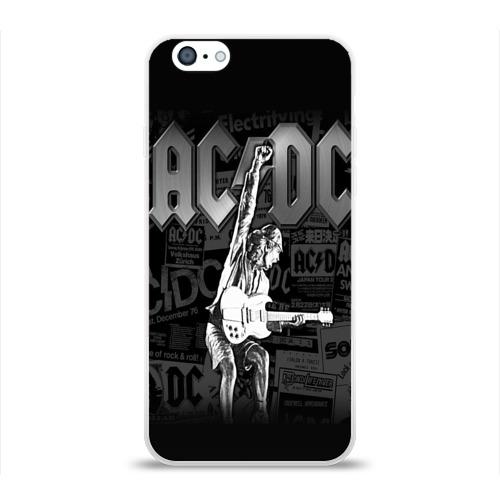 Чехол для Apple iPhone 6 силиконовый глянцевый  Фото 01, AC/DC 6