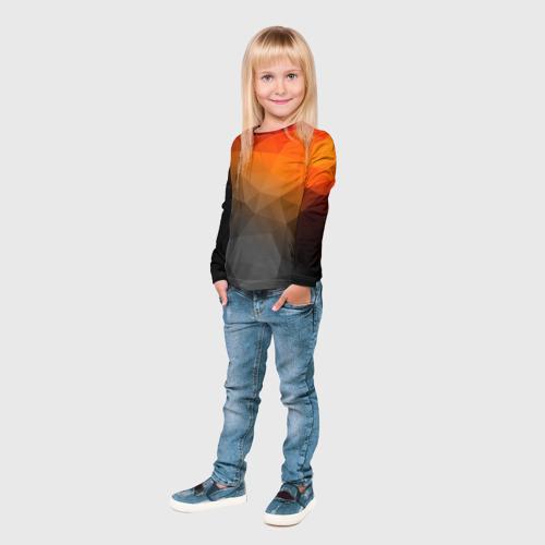 Детский лонгслив 3D  Фото 04, abstraction