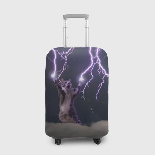 Чехол для чемодана 3D Грозовой кошак Фото 01