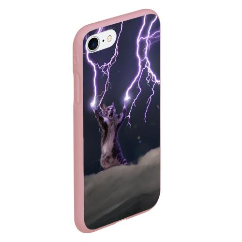 Чехол для iPhone 7/8 матовый Грозовой кошак Фото 01