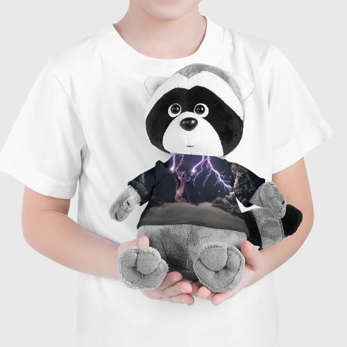 Енотик в футболке 3D Грозовой кошак Фото 01