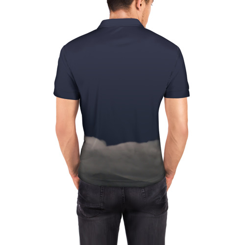 Мужская рубашка поло 3D Грозовой кошак Фото 01