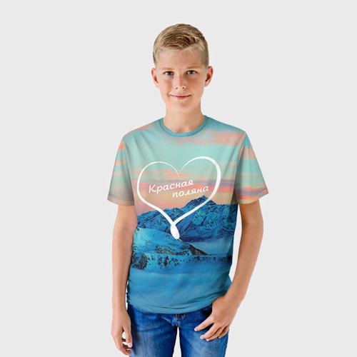 Детская футболка 3D Красная поляна