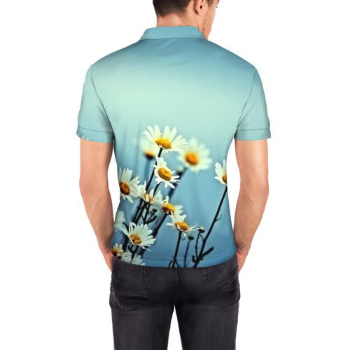 Мужская рубашка поло 3D  Фото 04, Ромашки