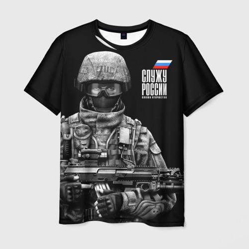 Мужская футболка 3D Служу России