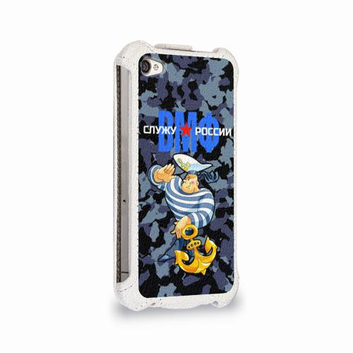 Чехол для Apple iPhone 4/4S flip  Фото 02, Служу России, ВМФ