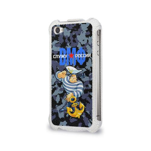 Чехол для Apple iPhone 4/4S flip  Фото 03, Служу России, ВМФ