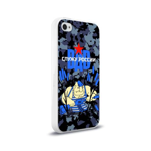 Чехол для Apple iPhone 4/4S силиконовый глянцевый  Фото 02, Служу России, ВДВ