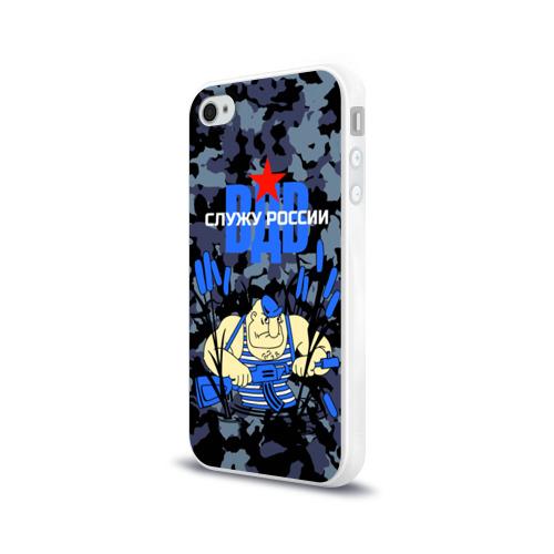 Чехол для Apple iPhone 4/4S силиконовый глянцевый  Фото 03, Служу России, ВДВ