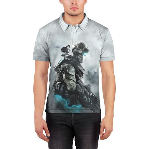 Мужская рубашка поло 3D  Фото 03, Ghost Recon