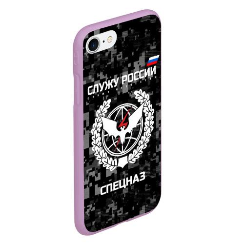 Чехол для iPhone 7/8 матовый Служу России, спецназ Фото 01
