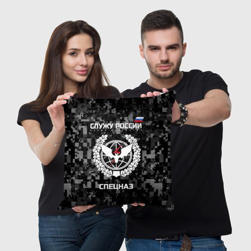 Подушка 3D Служу России, спецназ Фото 01