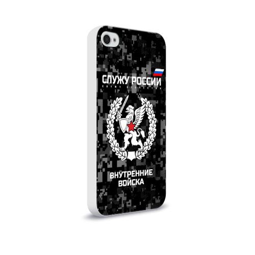 Чехол для Apple iPhone 4/4S soft-touch  Фото 02, Служу России, внутренние войска