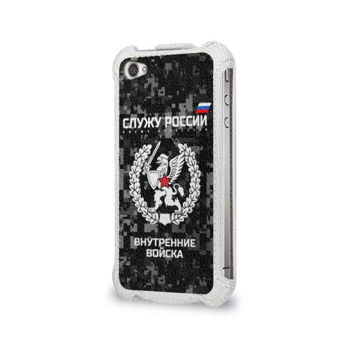 Чехол для Apple iPhone 4/4S flip  Фото 03, Служу России, внутренние войска