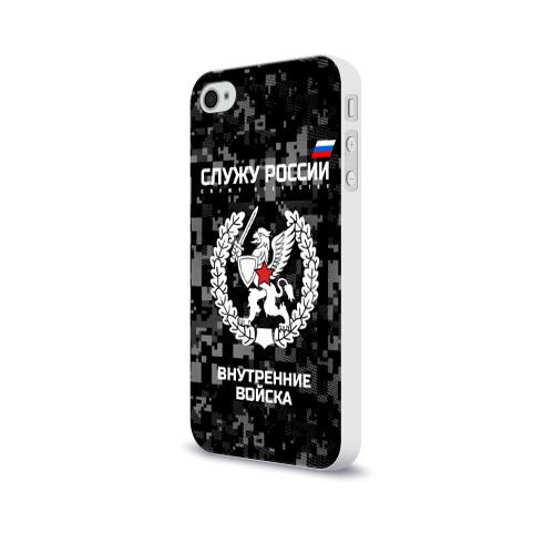 Чехол для Apple iPhone 4/4S soft-touch  Фото 03, Служу России, внутренние войска
