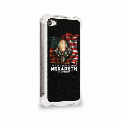 Чехол для Apple iPhone 4/4S flip  Фото 02, Megadeth #3