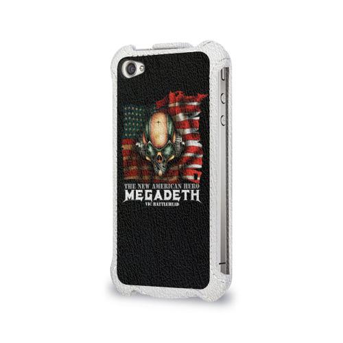 Чехол для Apple iPhone 4/4S flip  Фото 03, Megadeth #3