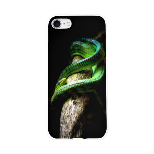 Чехол для Apple iPhone 8 силиконовый глянцевый  Фото 01, Змея на груди