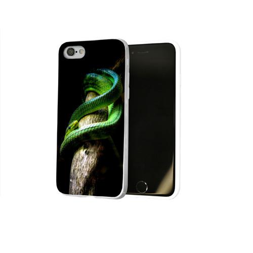 Чехол для Apple iPhone 8 силиконовый глянцевый  Фото 02, Змея на груди