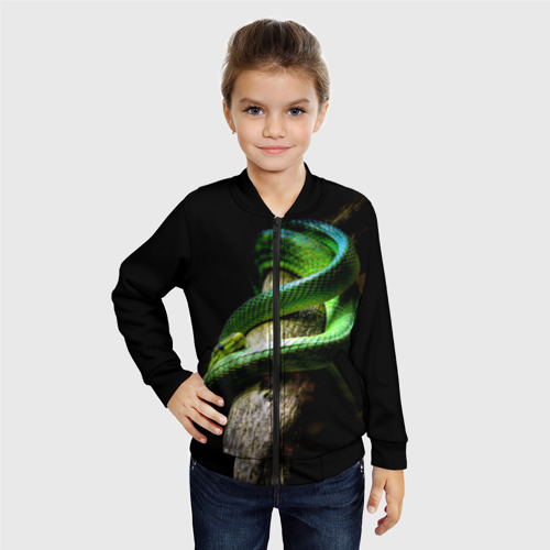 Детский бомбер 3D  Фото 06, Змея на груди