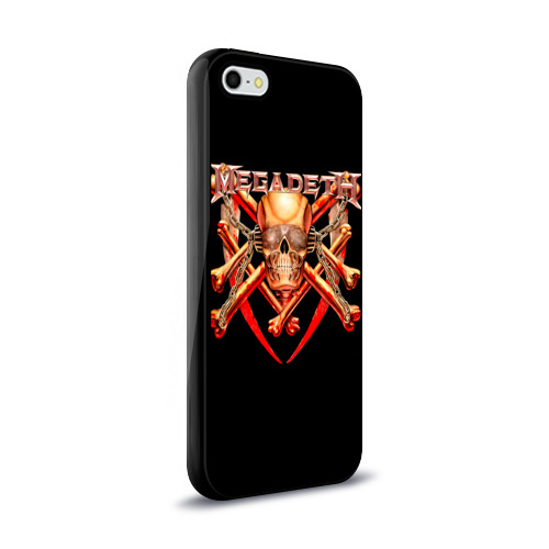 Чехол для Apple iPhone 5/5S силиконовый глянцевый  Фото 02, Megadeth 1
