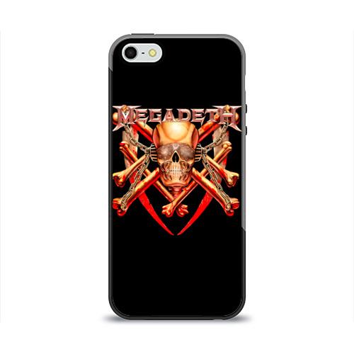 Чехол для Apple iPhone 5/5S силиконовый глянцевый  Фото 01, Megadeth 1