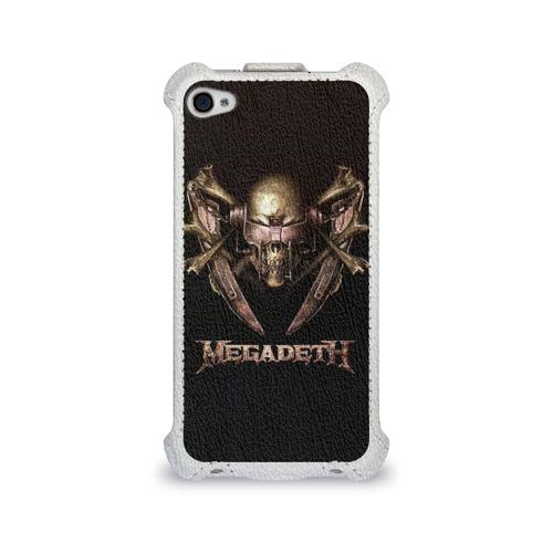 Чехол для Apple iPhone 4/4S flip  Фото 01, Megadeth 3