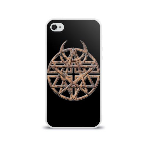 Чехол для Apple iPhone 4/4S силиконовый глянцевый  Фото 01, Disturbed 1