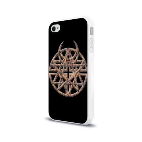 Чехол для Apple iPhone 4/4S силиконовый глянцевый  Фото 03, Disturbed 1