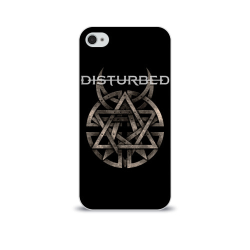 Чехол для Apple iPhone 4/4S soft-touch  Фото 01, Disturbed 2
