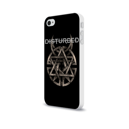 Чехол для Apple iPhone 4/4S soft-touch  Фото 03, Disturbed 2