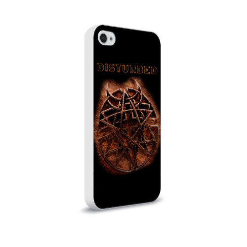 Чехол для Apple iPhone 4/4S soft-touch  Фото 02, Disturbed 3