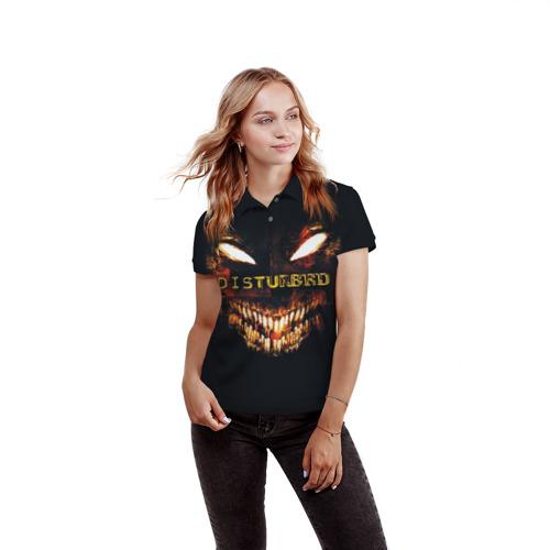 Женская рубашка поло 3D  Фото 03, Disturbed 4