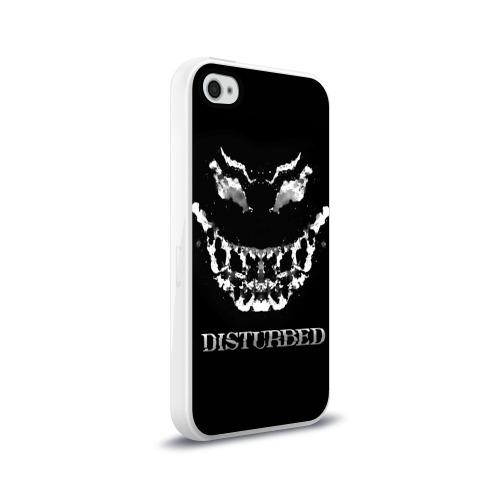 Чехол для Apple iPhone 4/4S силиконовый глянцевый  Фото 02, Disturbed 5