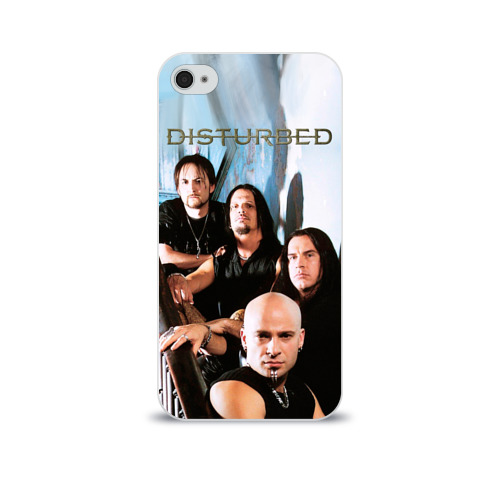 Чехол для Apple iPhone 4/4S soft-touch  Фото 01, Disturbed 6