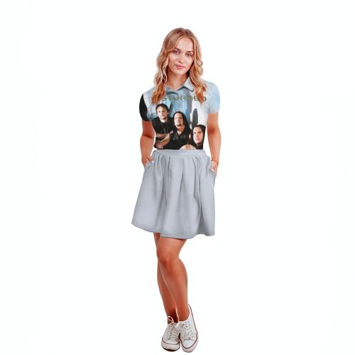 Женская рубашка поло 3D  Фото 04, Disturbed 6
