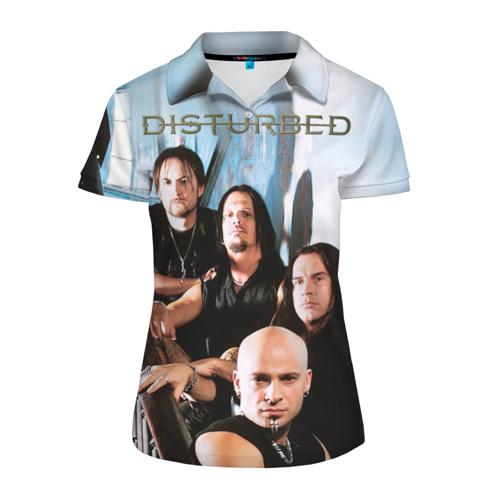 Женская рубашка поло 3D  Фото 01, Disturbed 6