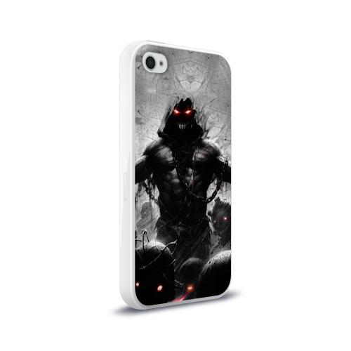 Чехол для Apple iPhone 4/4S силиконовый глянцевый  Фото 02, Disturbed 9