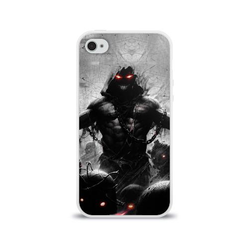Чехол для Apple iPhone 4/4S силиконовый глянцевый  Фото 01, Disturbed 9