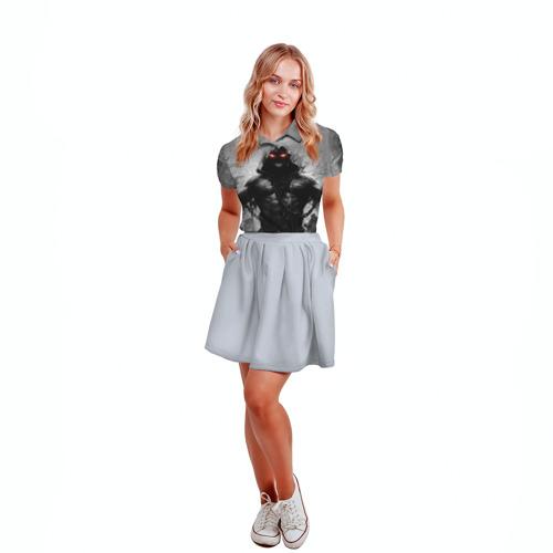 Женская рубашка поло 3D  Фото 04, Disturbed 9