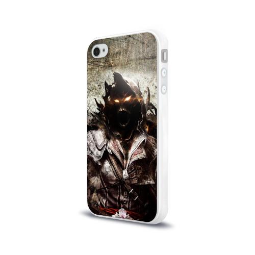 Чехол для Apple iPhone 4/4S силиконовый глянцевый  Фото 03, Disturbed 10