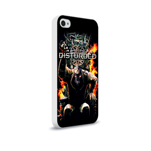 Чехол для Apple iPhone 4/4S soft-touch  Фото 02, Disturbed 11