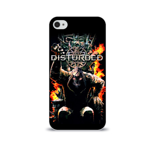 Чехол для Apple iPhone 4/4S soft-touch  Фото 01, Disturbed 11