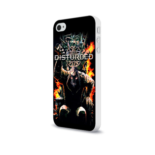 Чехол для Apple iPhone 4/4S soft-touch  Фото 03, Disturbed 11